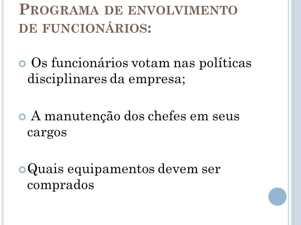 Programa de envolvimento de funcionários:
