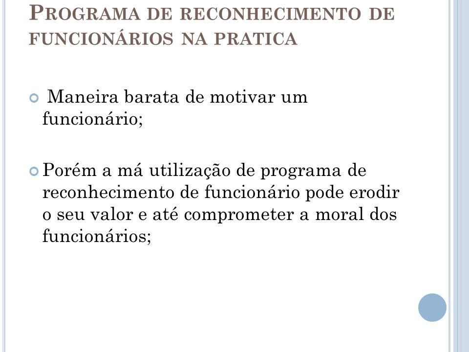 Programa de reconhecimento de funcionários na pratica