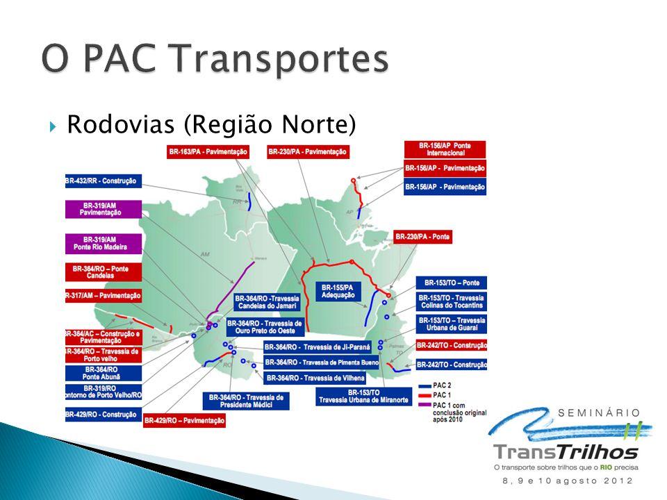 O PAC Transportes Rodovias (Região Norte)