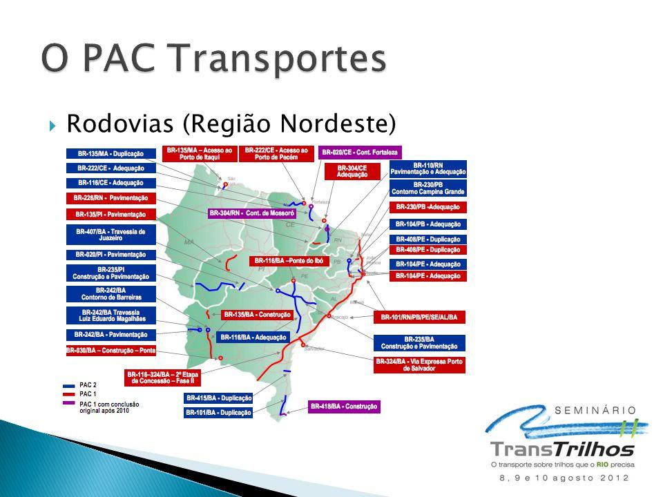 O PAC Transportes Rodovias (Região Nordeste)
