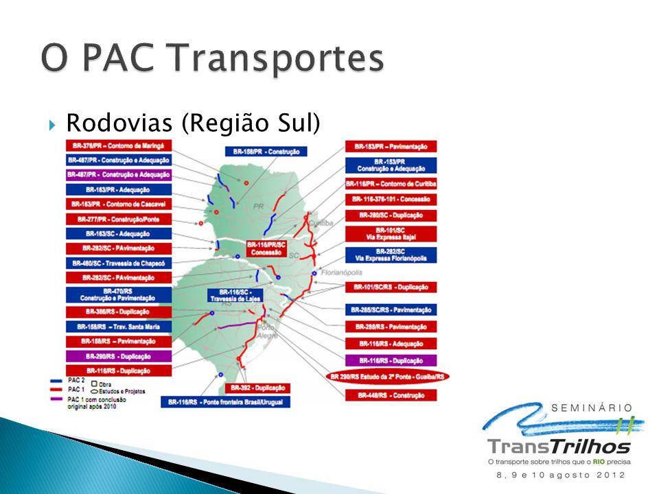 O PAC Transportes Rodovias (Região Sul)