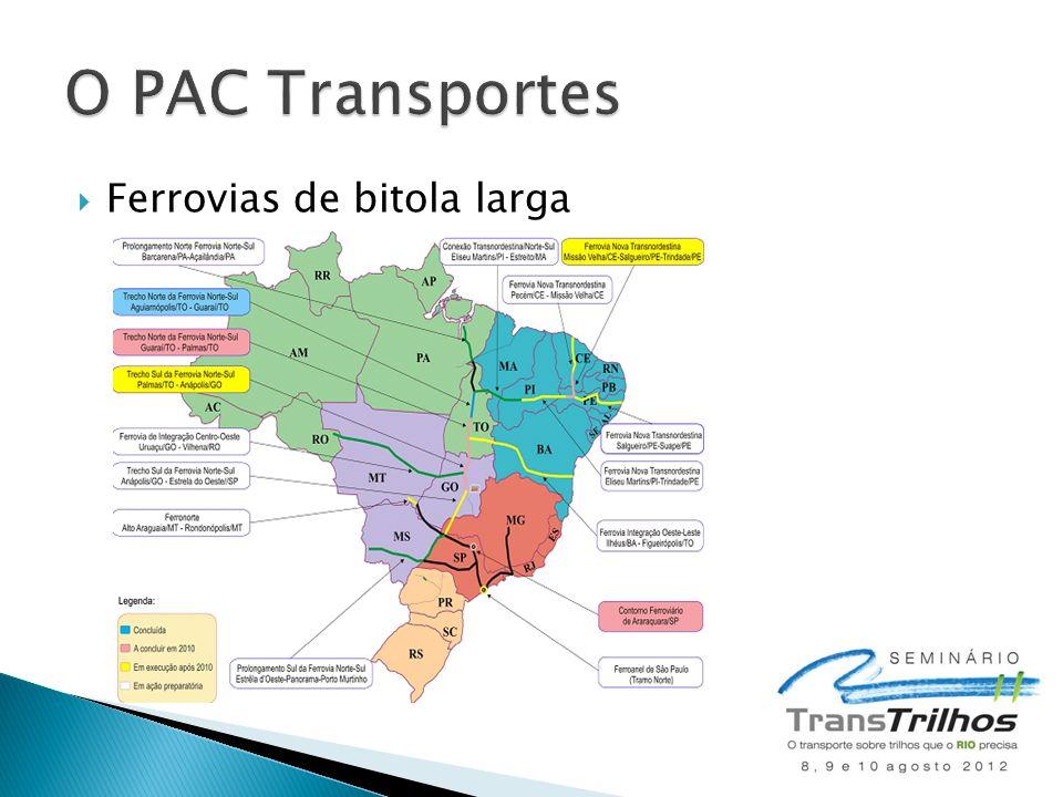 O PAC Transportes Ferrovias de bitola larga