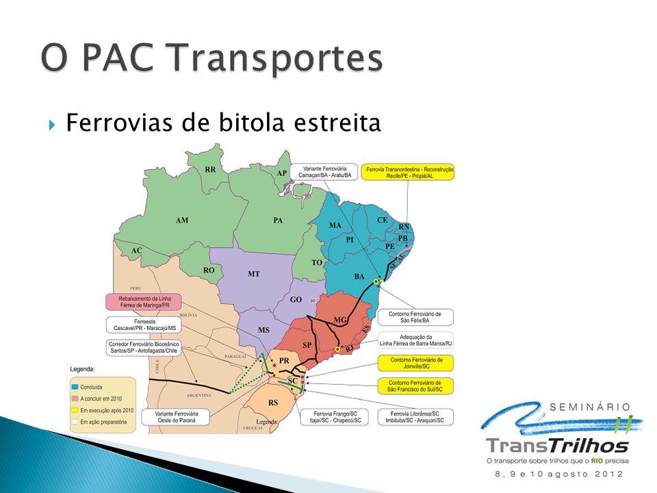 O PAC Transportes Ferrovias de bitola estreita