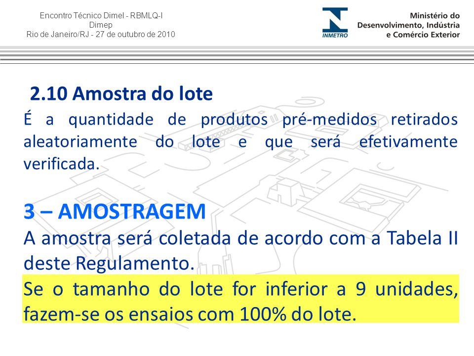 2.10 Amostra do lote 3 – AMOSTRAGEM