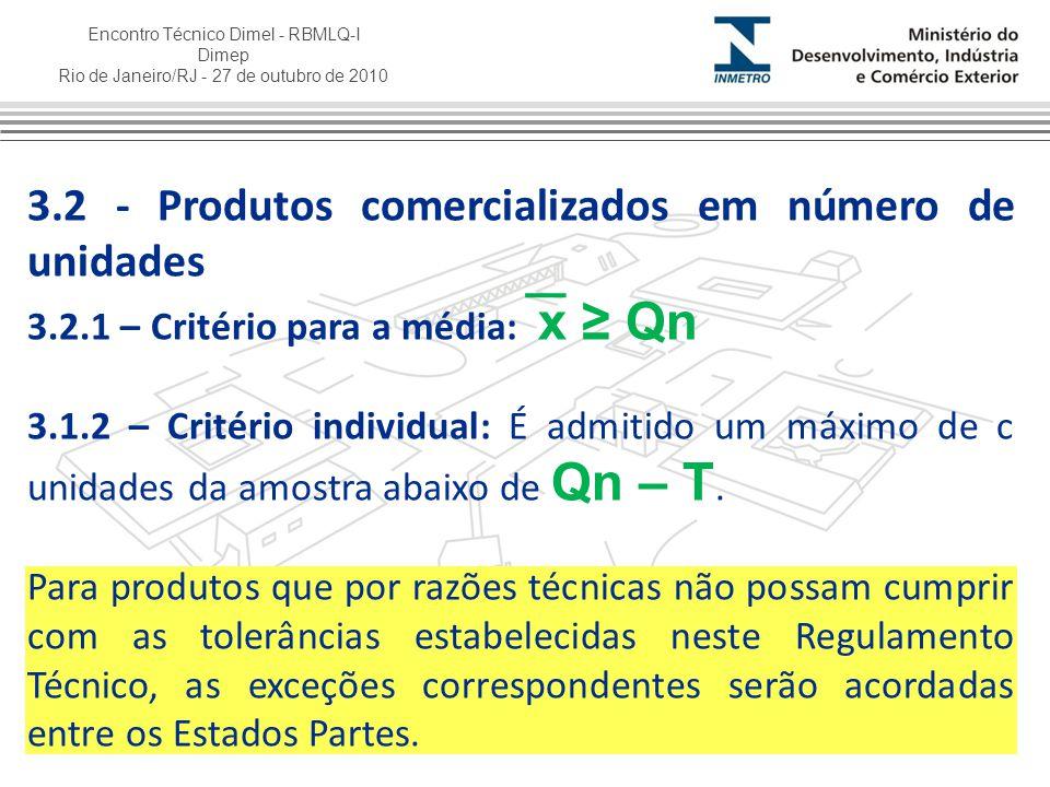 3.2 - Produtos comercializados em número de unidades