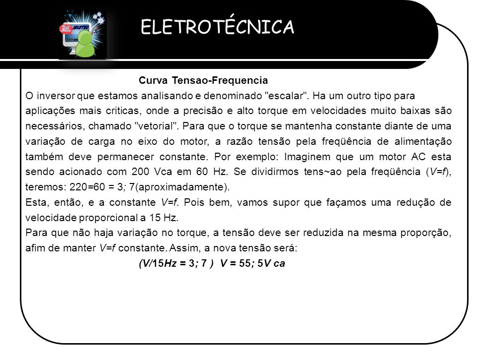 Curva Tensao-Frequencia