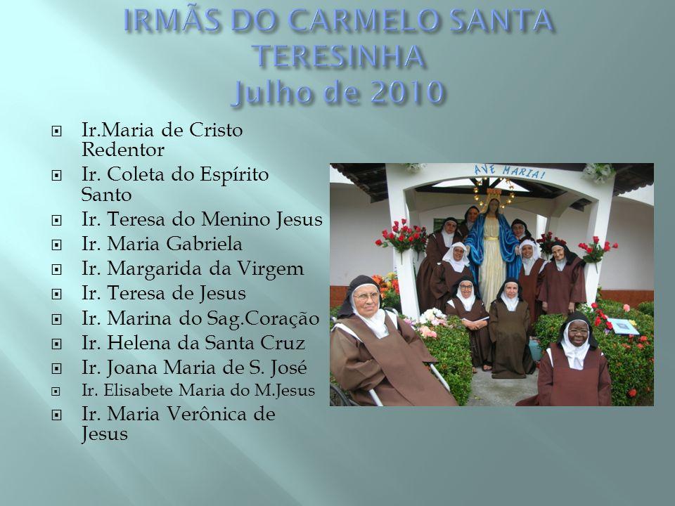 IRMÃS DO CARMELO SANTA TERESINHA Julho de 2010