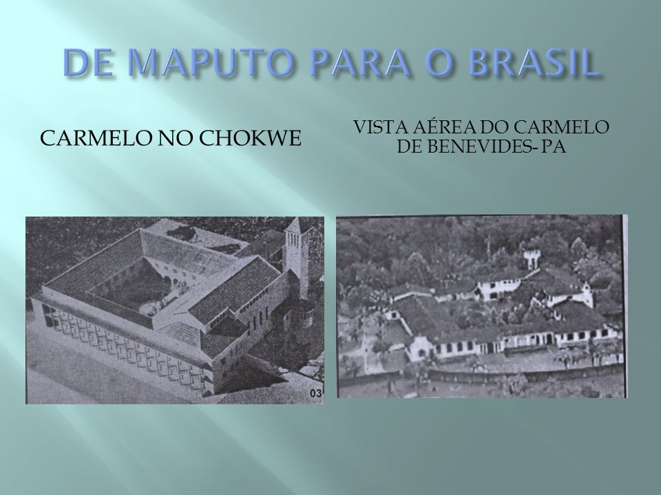 Vista aérea do Carmelo de Benevides- PA