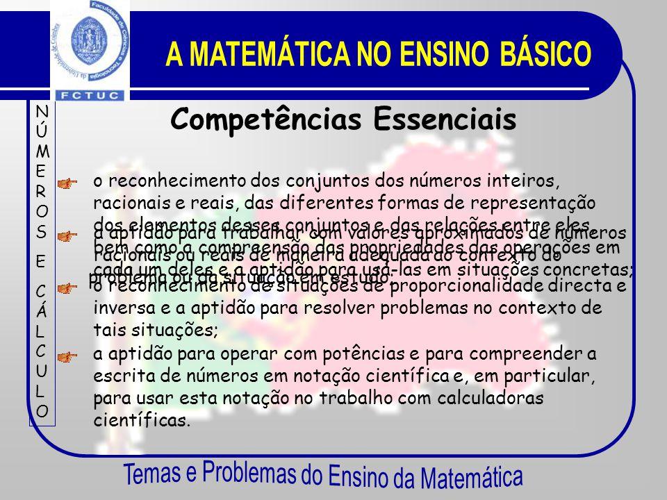 A MATEMÁTICA NO ENSINO BÁSICO Competências Essenciais