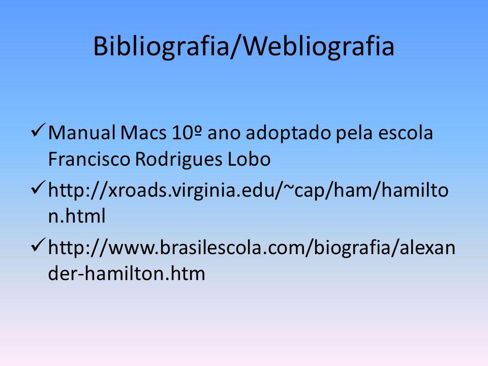 Bibliografia/Webliografia