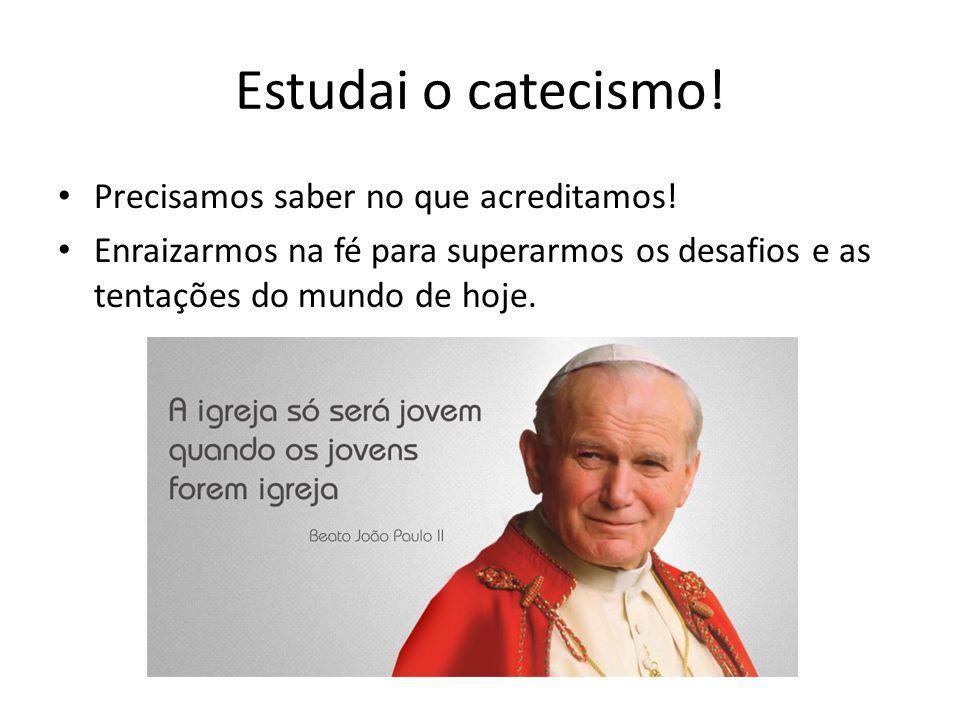 Estudai o catecismo! Precisamos saber no que acreditamos!