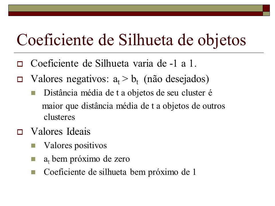 Coeficiente de Silhueta de objetos