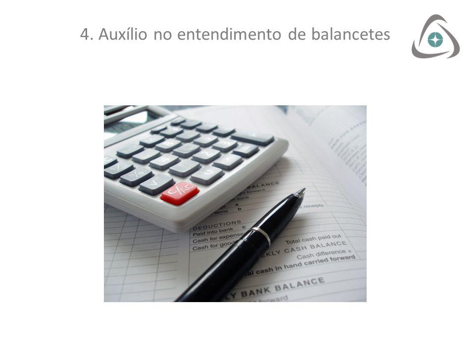 4. Auxílio no entendimento de balancetes