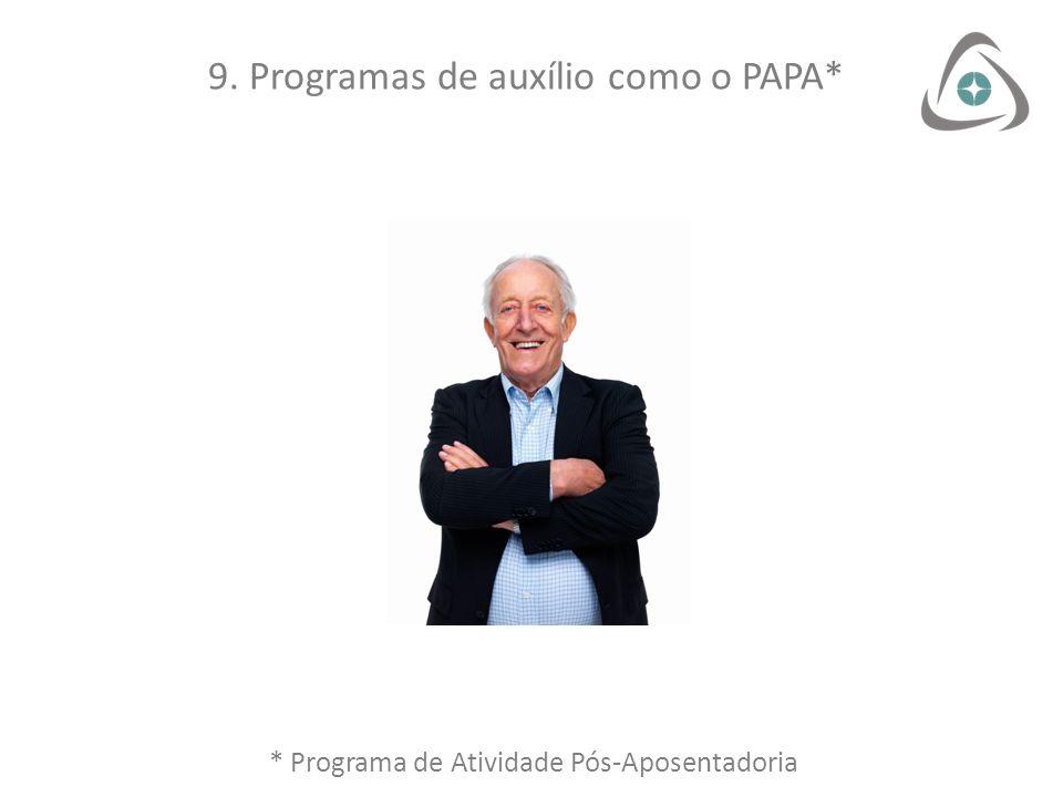9. Programas de auxílio como o PAPA*