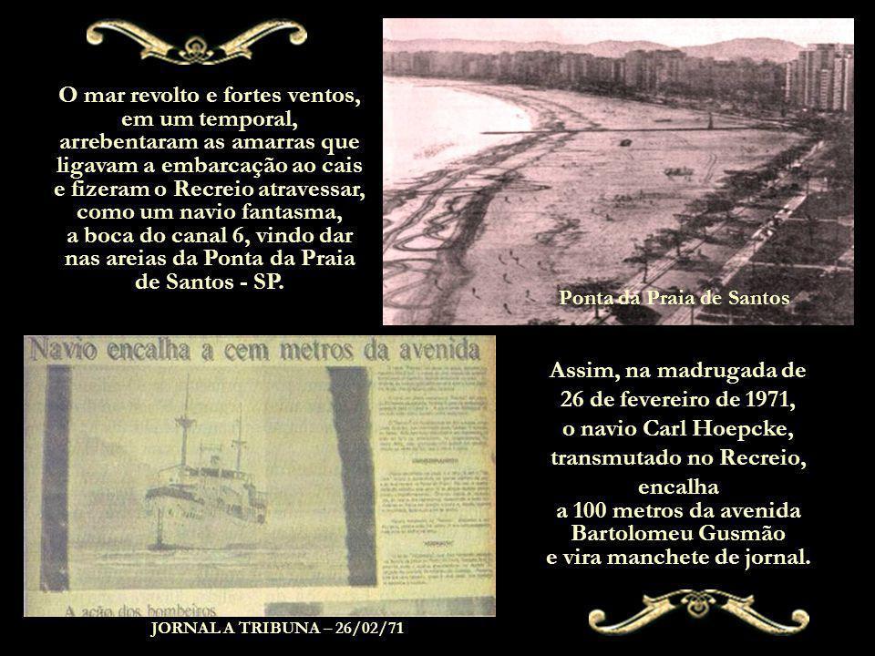 Ponta da Praia de Santos transmutado no Recreio,
