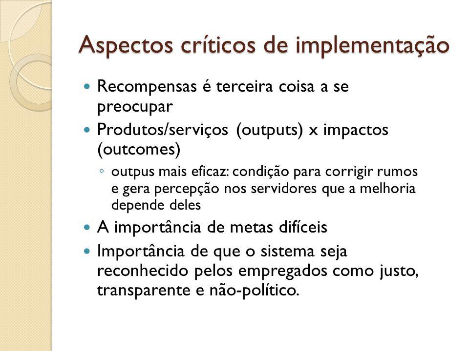 Aspectos críticos de implementação