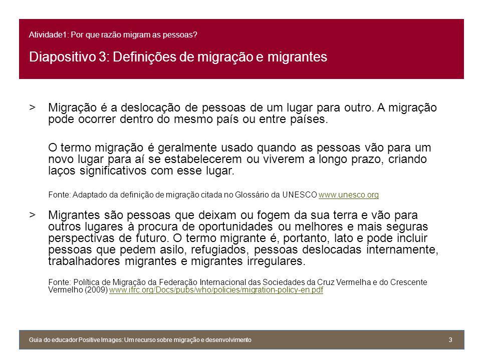 Atividade1: Por que razão migram as pessoas