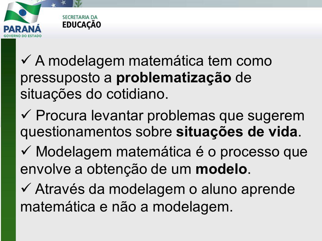 Modelagem matemática é o processo que envolve a obtenção de um modelo.