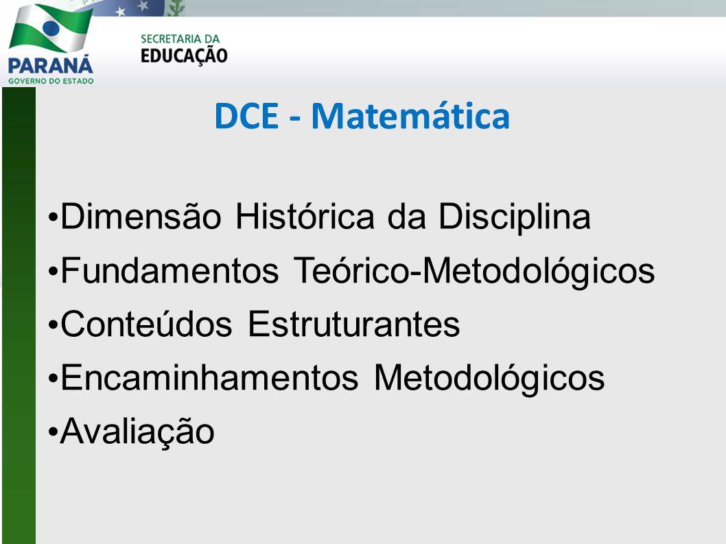 DCE - Matemática Dimensão Histórica da Disciplina