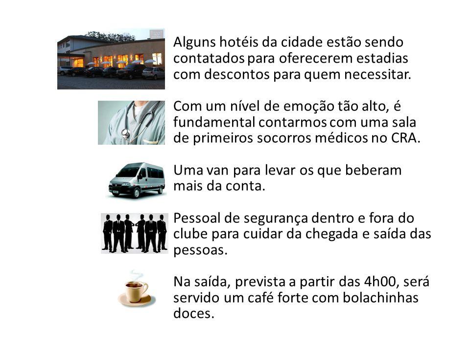 Alguns hotéis da cidade estão sendo contatados para oferecerem estadias com descontos para quem necessitar.
