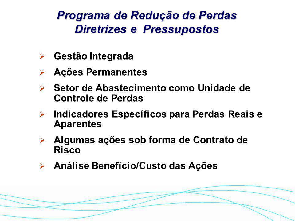 Programa de Redução de Perdas Diretrizes e Pressupostos