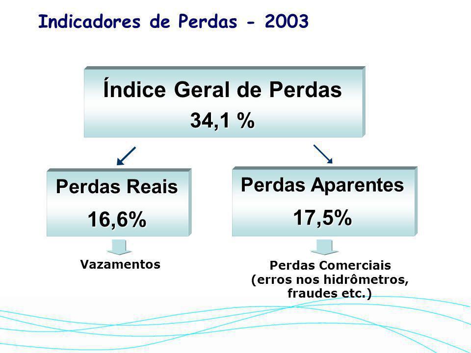 Perdas Comerciais (erros nos hidrômetros, fraudes etc.)