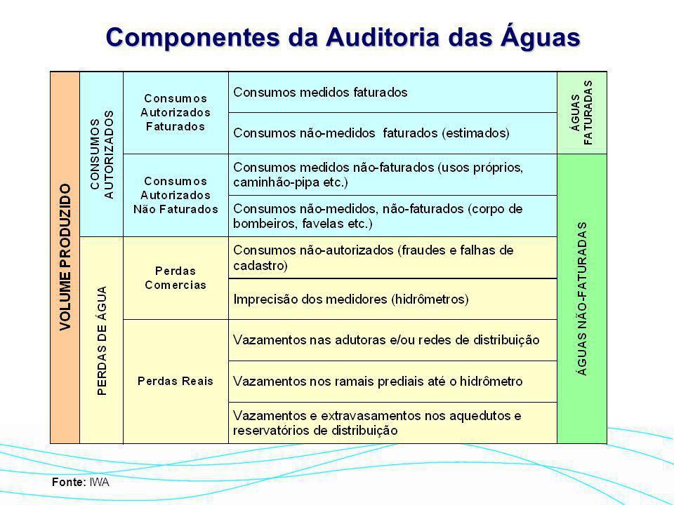 Componentes da Auditoria das Águas
