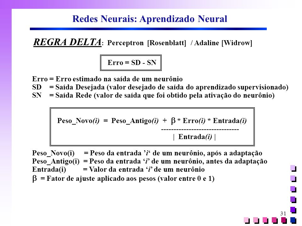 Redes Neurais: Aprendizado Neural