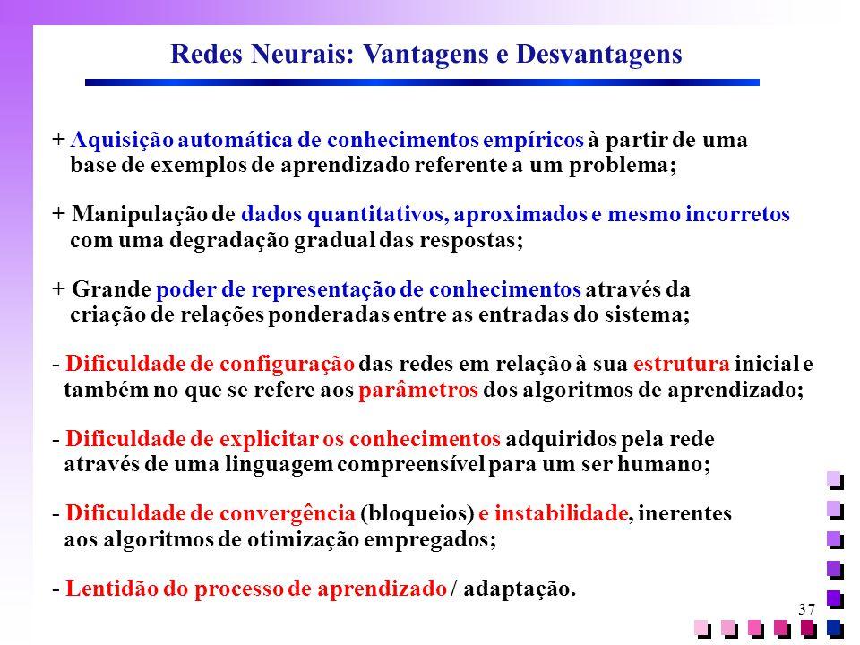 Redes Neurais: Vantagens e Desvantagens