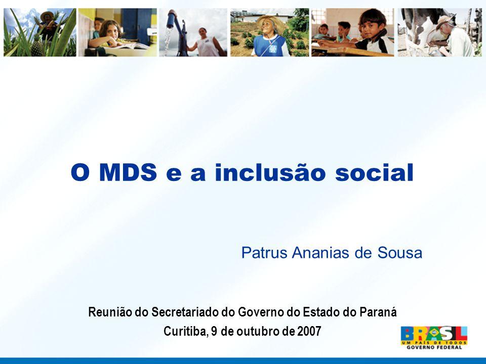 O MDS e a inclusão social