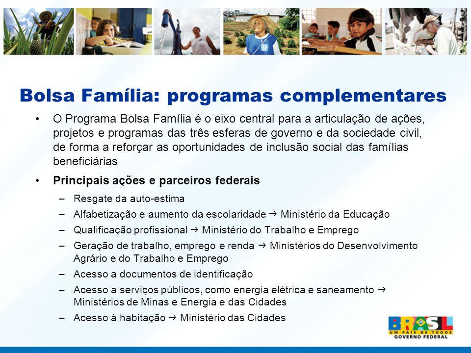 Bolsa Família: programas complementares