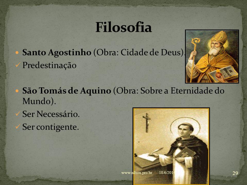 Filosofia Santo Agostinho (Obra: Cidade de Deus). Predestinação