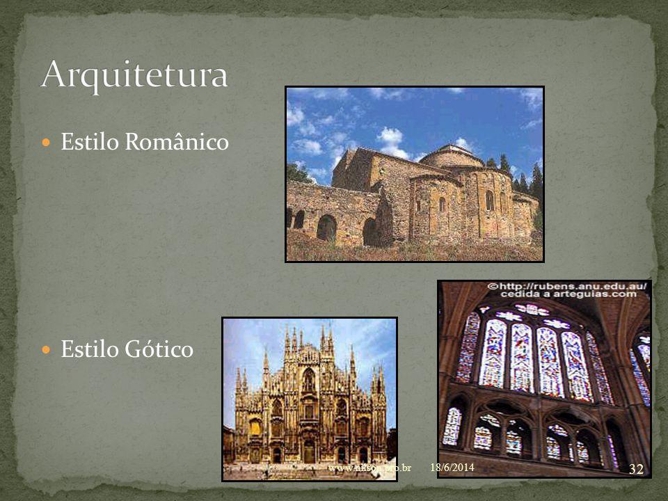 Arquitetura Estilo Românico Estilo Gótico www.nilson.pro.br 02/04/2017