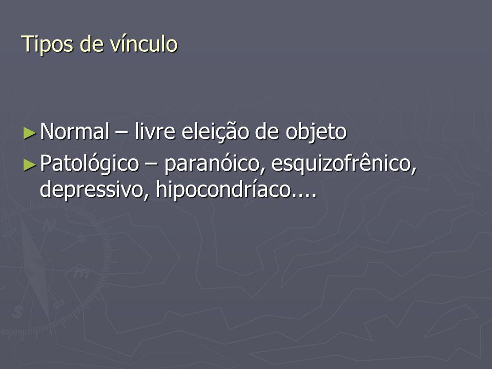 Tipos de vínculo Normal – livre eleição de objeto.