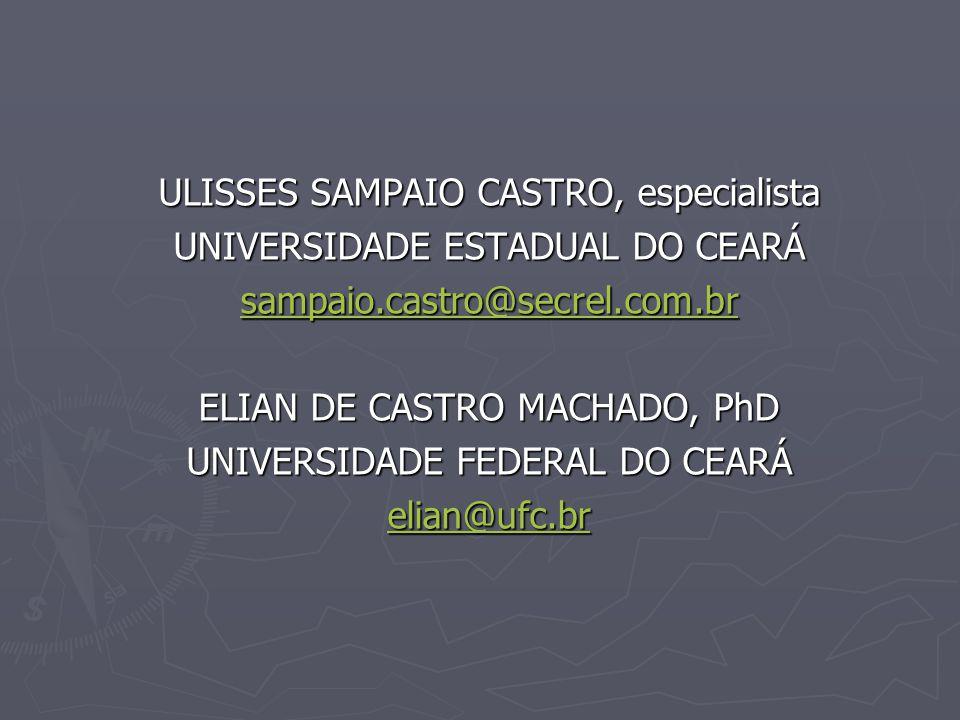ULISSES SAMPAIO CASTRO, especialista UNIVERSIDADE ESTADUAL DO CEARÁ