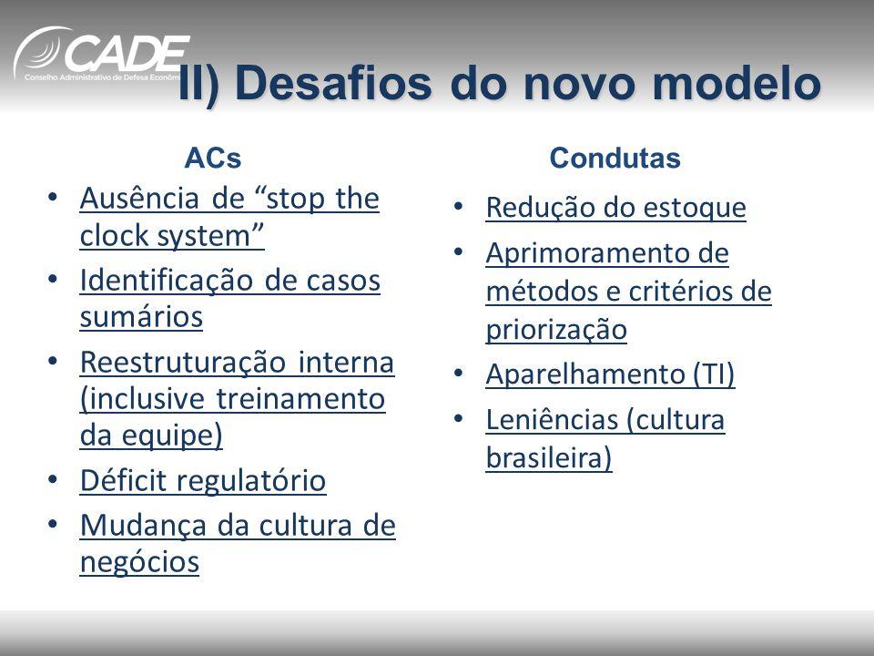 II) Desafios do novo modelo