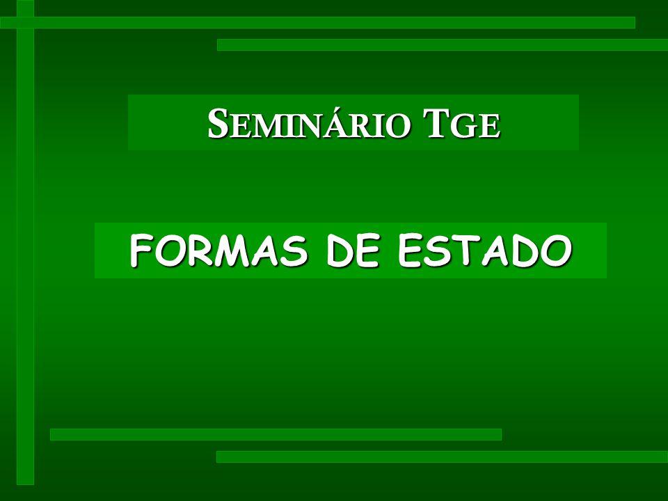 SEMINÁRIO TGE FORMAS DE ESTADO