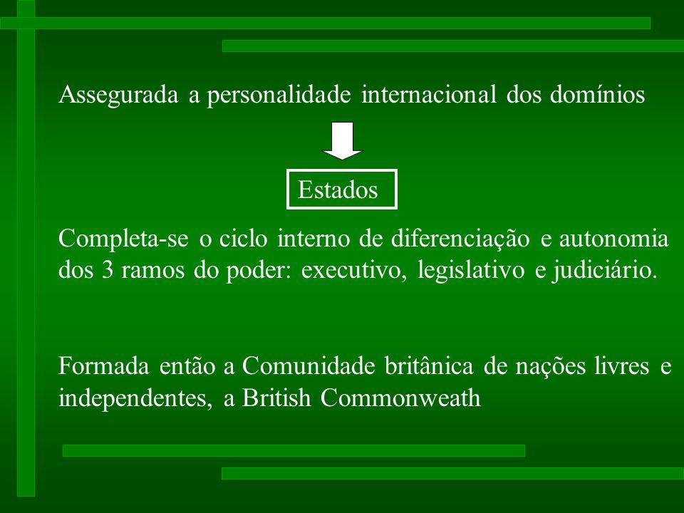 Assegurada a personalidade internacional dos domínios
