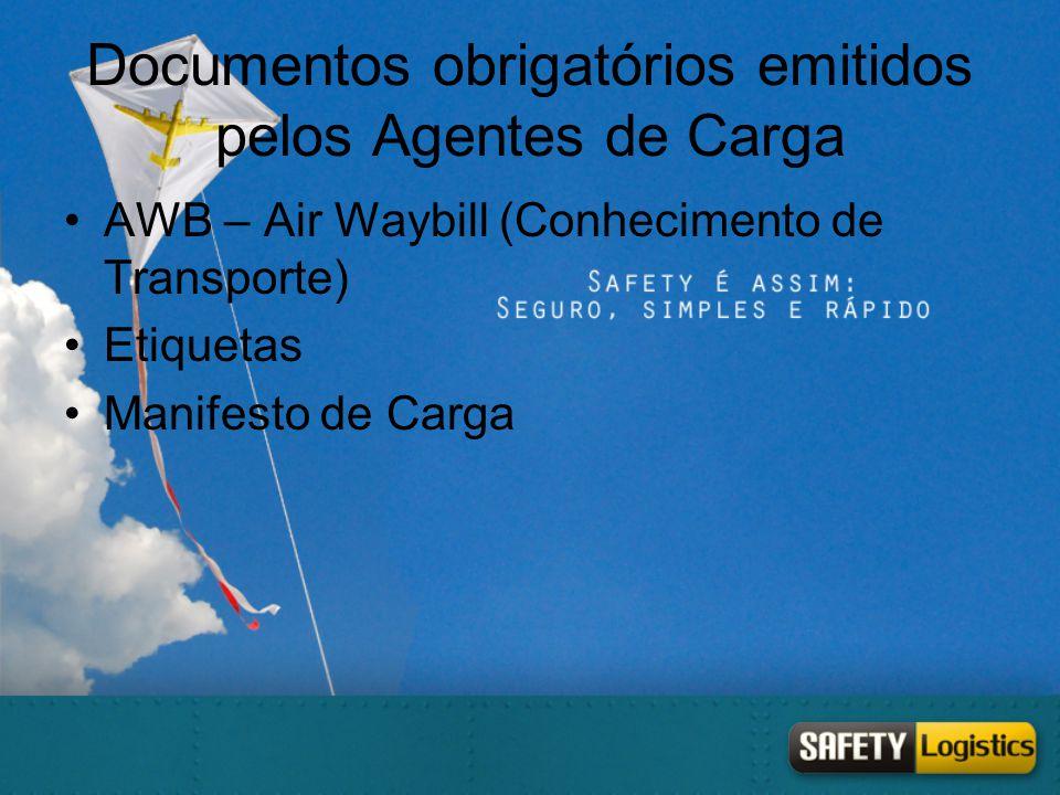 Documentos obrigatórios emitidos pelos Agentes de Carga
