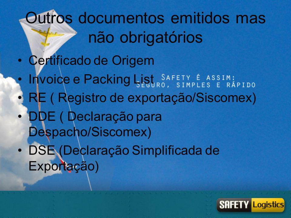 Outros documentos emitidos mas não obrigatórios