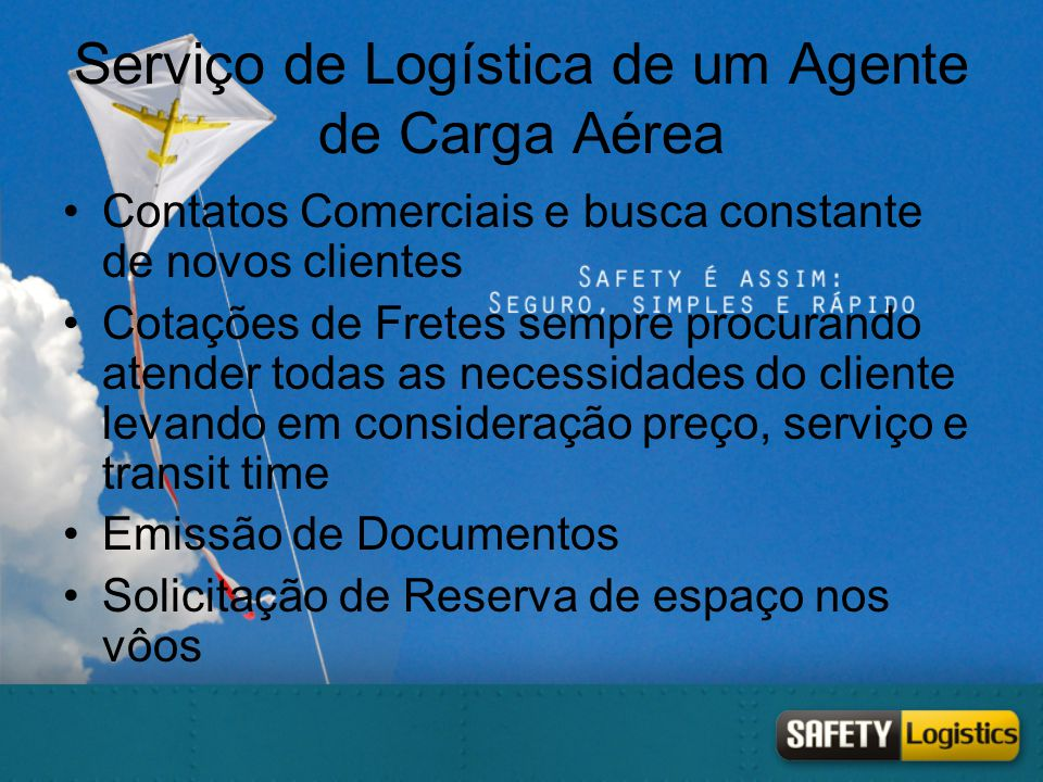 Serviço de Logística de um Agente de Carga Aérea