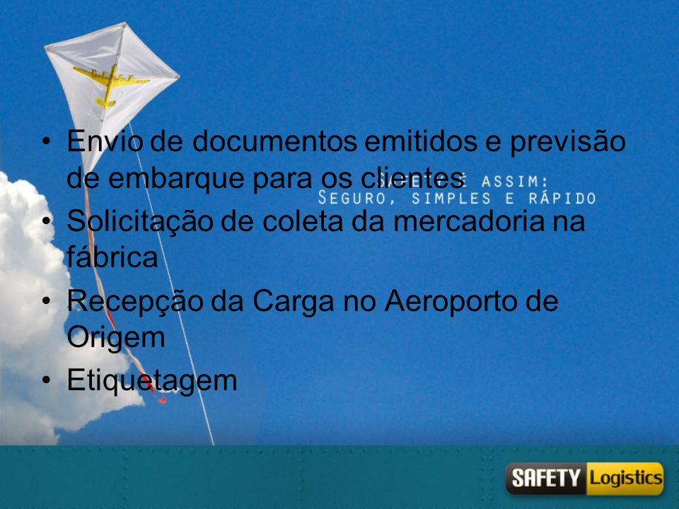Envio de documentos emitidos e previsão de embarque para os clientes