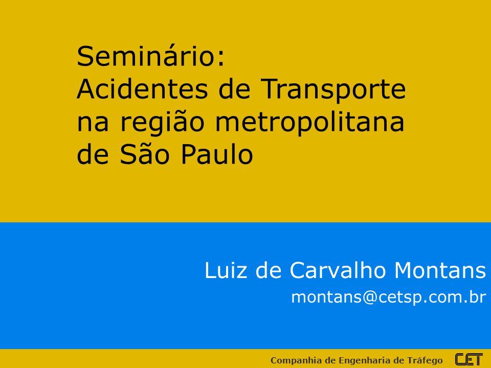 Acidentes de Transporte na região metropolitana de São Paulo
