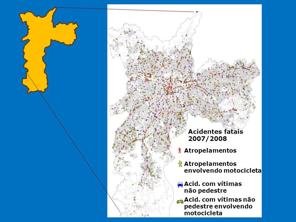 Acidentes fatais 2007/2008 Atropelamentos