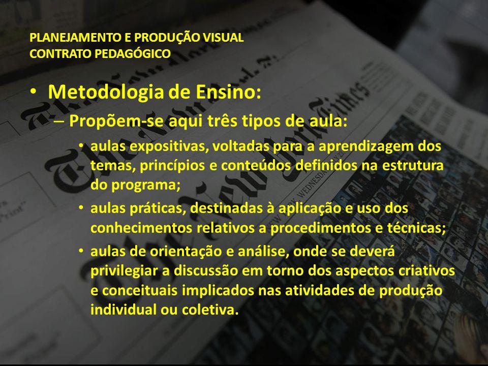PLANEJAMENTO E PRODUÇÃO VISUAL CONTRATO PEDAGÓGICO