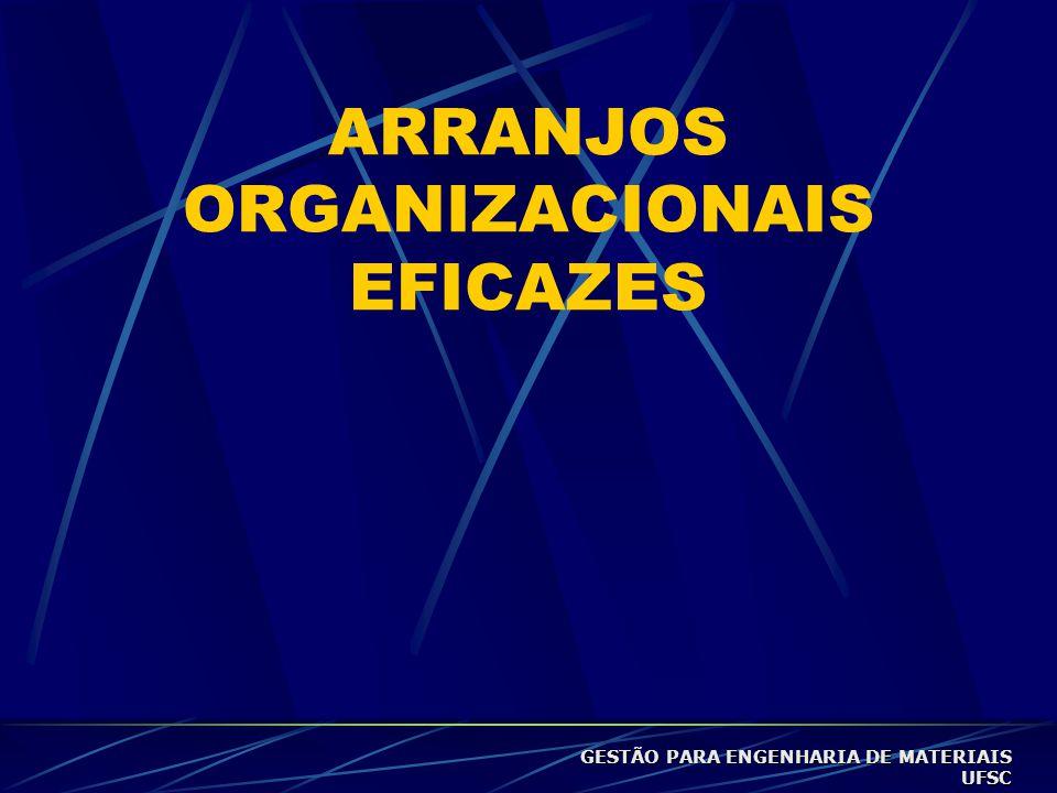 ARRANJOS ORGANIZACIONAIS EFICAZES