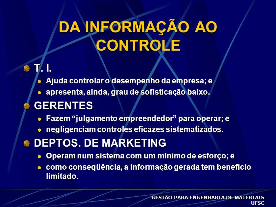 DA INFORMAÇÃO AO CONTROLE