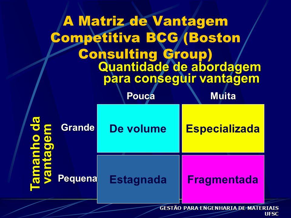 A Matriz de Vantagem Competitiva BCG (Boston Consulting Group)