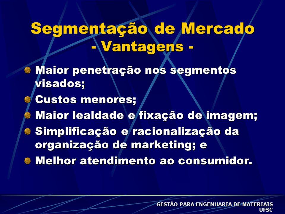 Segmentação de Mercado - Vantagens -