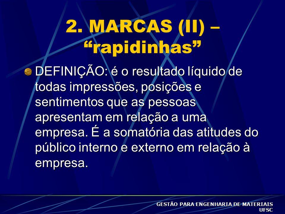 2. MARCAS (II) – rapidinhas
